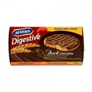Macvity Μπισκότα  Digestive Μαύρη Σοκολάτα 200 gr