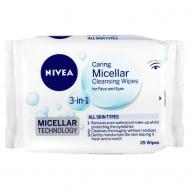 Nivea  Μιcellar Μαντηλάκια Καθαρισμού Προσώπου 25 Τεμάχια + 25 Δώρο