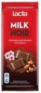 Lacta Milk Noir Σοκολάτα Τραγανά Αλατισμένα Αμύγδαλα  85 gr