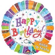Πιάτα Happy Birthday 23 cm 6 Τεμάχια