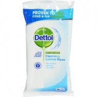 Dettol Υγρά Μαντηλάκια Καθαρισμού Antibacterial  2 σε 1 36 Τεμάχια