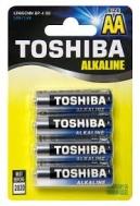 Toshiba μπαταρίες Alcaline AA  4 τεμάχια