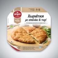Γκογκος  Πιτα Χωριάτικη  με Σπανάκι &Τυρι 800  gr