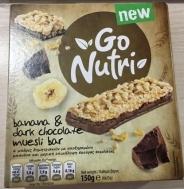 Go Nutri Μπάρες με Μπανάνα και Μαύρη Σοκολάτα  6Χ25 gr