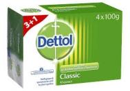 Dettol Classsic Σαπούνι 100 gr 3+1 Δώρο
