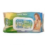 My Heart Μωρομάντηλα με Καπάκι Aloe Vera 72 Τεμάχια