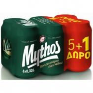 Mythos Μπύρα 330 ml x 6 (5+1 Δώρο)