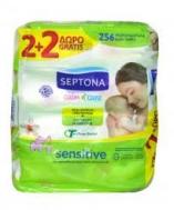 Septona Calm & Care Μωρομάντηλα  Aloe Vera  4X64 Τεμάχια