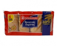 Παπαδοπούλου Φρυγανιές Σίτου 510 gr (3+1 Δώρο)