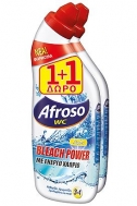 Afroso Υγρό Wc με Χλώριο Λεμόνι 750 ml 1+1 Δώρο