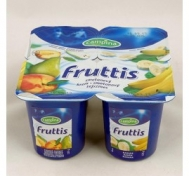 Campina Frutis Επιδόρπιο Γιαουρτιού  Με   Μπανανα, Ροδάκινο και  Αχλάδι 4x 125 gr