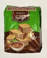 Biscomania  Γκοφρλετες με  Κρέμα Φουντούκι 250 gr