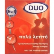 Duo Extra Thin Προφυλακτικά 3 ΤΜΧ
