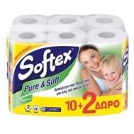 Softex Pure & Soft Χαρτί Υγείας 12 Ρολά