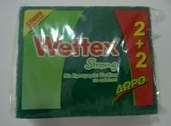 Wettex Strong Σφουγγαράκι 2+2 Δώρο