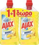 Ajax Υγρό Δαπέδου  Μαγειρική Σόδα & Λεμόνι   1 lt   1+1 Δώρο