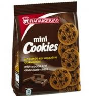 Παπαδοπούλου Μπισκότα Mini Cookies με Κακάο & Κομμάτια Σοκολάτας 70 gr