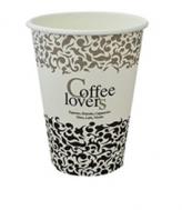 Coffee lovers Ποτήρια Χάρτινα μιας Χρήσης για Ζεστό Ρόφημα Μεσσαίο 14OZ 50 Τεμάχια