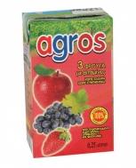 Agros   3 Φρούτα Σταφύλι , Μήλο , Φράουλα   100%  0.25 L