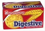 Παπαδοπούλου Μπισκότα Digestive Ολικής Άλεσης 250 gr