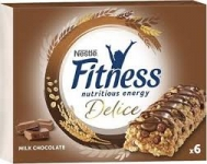 Nestle Fitness Delice με Σοκολάτα Γάλακτος Mπάρες Δημητριακών 6 x 22,5 gr