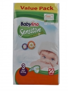 Babylino Sensitive No3 56 Τεμάχια