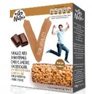 Go Nutri Μπάρα Δημητριακών Ολικής 'Άλεσης με Σοκολάτα 6Χ25 gr