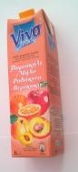 Viva Μήλο Πορτοκάλι Βερίκοκο Ροδάκινο Φυσικός Χυμός 1 lt
