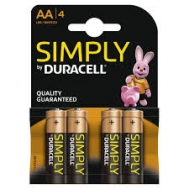 Duracell  Μπαταρίες Απλές  ΑΑ 4 Τεμάχια