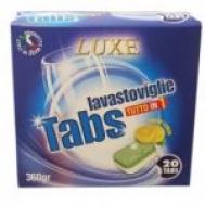 Luxe ταμπλέτες Πλυντηρίου Πιάτων  Ολα σε 1  Λεμόνι 20 Τεμάχια