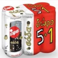 Έψα Σόδα Κουτί 6x330 ml 5+1 Δώρο