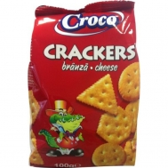 Croco Crackers Cheese Αλμυρά Μπισκότα 100 gr