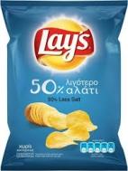 Lays  Πατατάκια  50%  Λιγότερο Αλάτι 130  gr