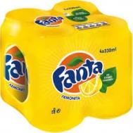 Fanta Λεμονάδα 4x330 ml