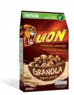 Nestle Δημητριακά Ολικής Άλεσης Lion Granola Caramel & Chocolate 300 gr