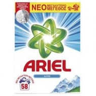 Ariel Alpine Σκόνη Πλυντηρίου 58 Μεζούρες