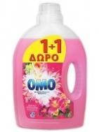Omo Υγρό Πλυντηρίου Τροπικά Λουλούδια 30 Μεζούρες 1.95 kg 1+1 Δώρο