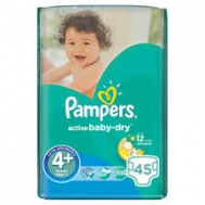 Pampers  Baby Dry  Maxi No  4+ 45 Τεμαχια