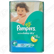 Pampers Active  Baby Dry  No  4+  18  Τεμαχια