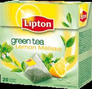 Lipton Green Tea Lemon Mellissa Πυραμίδα 20 X0.016 gr