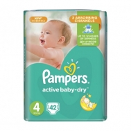 Pampers Active  Baby Dry  No  4  42 Τεμαχια