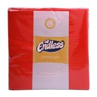 Endless Premium Χαρτοπετσέτες  κοκκινες 50 τμ