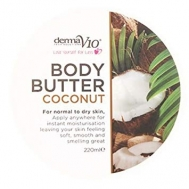 Derma V 10   Κρέμα  Σώματος  Καρύδα 220 ml