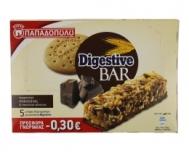 Παπαδοπούλου Digestive Bar με Κομματάκια Σοκολάτας γάλακτος 140 gr
