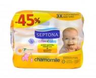Septona Calm & Care Μωρομάντηλα  Χαμομήλι 3X64 Τεμάχια