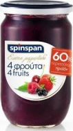 Spin Span  μαρμελάδα 4 Φρούτα 600 gr