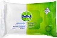Dettol Υγρά Μαντηλάκια Καθαρισμού 15 Τεμάχια