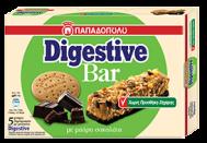 Παπαδοπούλου Digestive Bar Μαύρη Σοκολάτα Χωρίς Ζάχαρη 140 gr