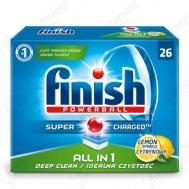 Finish Ταμπλέτες Πλυντηρίου Πιάτων Όλα σε  1  Λεμόνι 26 Τεμάχια