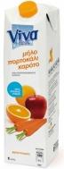 Viva Μήλο Πορτοκάλι Καρότο Φυσικός Χυμός 1 lt